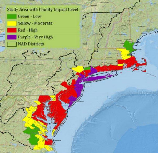 Sandy Maximum Impact Plannersweb - Us-army-corps-of-engineers-district-map