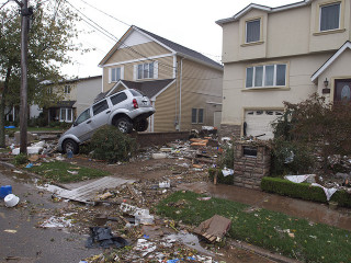 The Aftermath of Hurricane Sandy  Armstrong Avenue on the boarder of Great Kills and Eltingville, below Hylan Boulevard in Staten Island, NY.