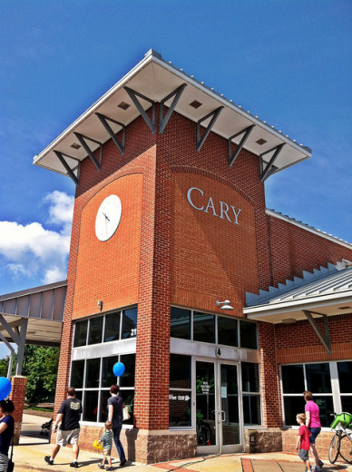 Cary, North Carolina, Amtrak Station. Photo by James Willamor; Flickr Creative Commons license.