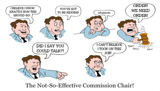 Illustration by Marc Hughes for PlannersWeb - on being an effective chair.