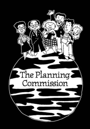 the Planning Commission. Illustration by Marc Hughes for PlannersWeb