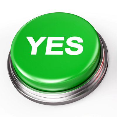 yes no button isolated on white 3d render plannersweb