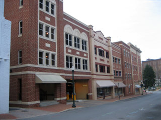 "Parking garage ""liner"" in Staunton, Virginia."