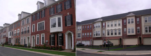 Same density of two different buildings within same development.